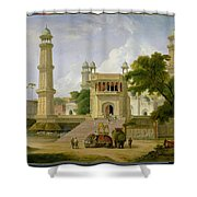 Indian Temple Shower Curtain