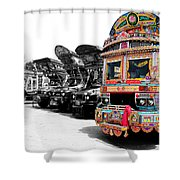 Indian Truck Shower Curtain