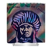 Indigenous Motto Earth Tones Shower Curtain