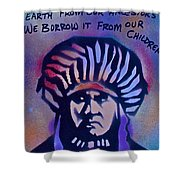 Indigenous Motto...blue Shower Curtain