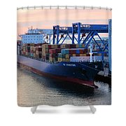 Industrial Boston Shower Curtain