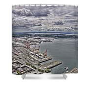 Industrial Harbor Shower Curtain