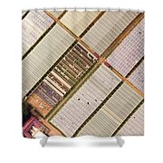 Industrial Hot Houses On Tonde Bay Shower Curtain