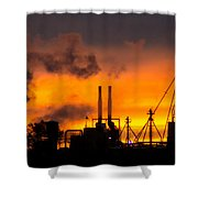 Industrial Strength Sunset Shower Curtain
