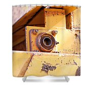 Industrial Yellow Shower Curtain