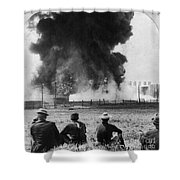 Industry: Oil Fire, C1902 Shower Curtain
