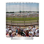 Indy 500  Race Day Shower Curtain