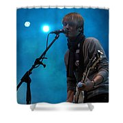 Inem Blue Shower Curtain