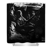 Infantrymen Take Advantage Of Cover Shower Curtain