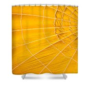 Inflating Folds Of Yellow Shower Curtain