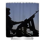 Information Systems Technician Manning Shower Curtain by Stocktrek Images