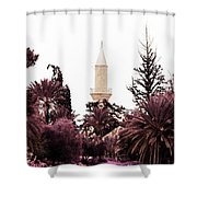 infrared Hala Sultan Tekke Shower Curtain