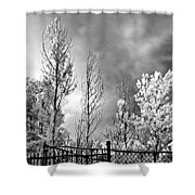 Infrared Summer Storm 2 Shower Curtain