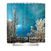 Infrared Summer Storm Shower Curtain
