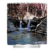 Infrared Waterfall Shower Curtain