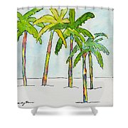 Inked Palms Shower Curtain