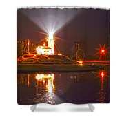 Inland Lighthouse In Indiana Shower Curtain