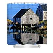 Inlet At Peggys Cove Nova Scotia Shower Curtain