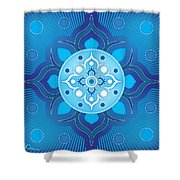 Inner Guidance - Blue Version Shower Curtain