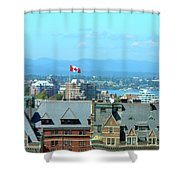 Inner Harbour As Seen  Via Marriot Window Shower Curtain