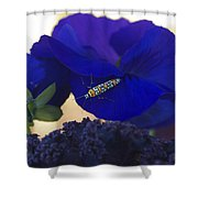 Insect On Flower Shower Curtain