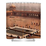 Inside Jama Masjid In The Huge Courtyard Shower Curtain