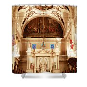 Inside St Louis Cathedral Jackson Square French Quarter New Orleans Diffuse Glow Digital Art Shower Curtain