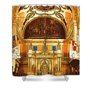 Inside St Louis Cathedral Jackson Square French Quarter New Orleans Digital Art Shower Curtain