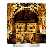Inside St Louis Cathedral Jackson Square French Quarter New Orleans Fresco Digital Art Shower Curtain by Shawn O'Brien
