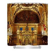 Inside St Louis Cathedral Jackson Square French Quarter New Orleans Poster Edges Digital Art Shower Curtain by Shawn O'Brien