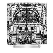 Inside St Louis Cathedral Jackson Square French Quarter New Orleans Stamp Digital Art Shower Curtain