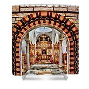 Inside St. Nicholas Chapel At A Greek Monastary In Florence Az Shower Curtain