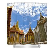 Inside The Grand Palace Bangkok Shower Curtain