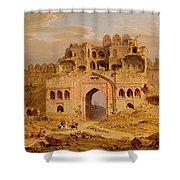 Inside The Main Entrance Of The Purana Qila - Delhi Shower Curtain