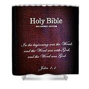 Inspirations 17 John 1 V1 Shower Curtain