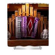 Instrument - Accordian - The Accordian Organ  Shower Curtain