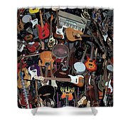 Instruments Shower Curtain