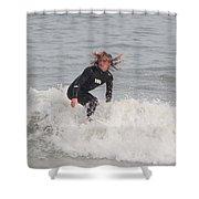 Intense Surfer Shower Curtain