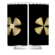 Interference Patterns Shower Curtain