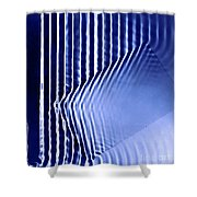 Interference Waves Shower Curtain
