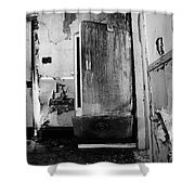 Interior In Black And White Shower Curtain