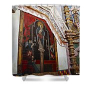Interior Wall San Xavier Del Bac Mission Shower Curtain