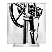 Internal Combustion Engine Shower Curtain