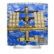 International Space Station Shower Curtain