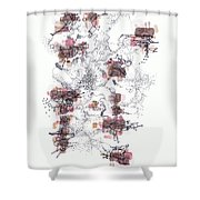Interphases And Grains Shower Curtain