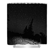 Into The Night Monochrome Shower Curtain