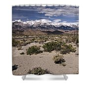 Into The Sierras Shower Curtain