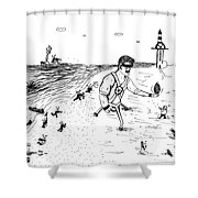 Invasion Mini Series 1-2 Shower Curtain