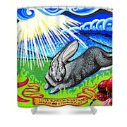Iorek Byrnison Silvertongue Shower Curtain