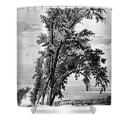 Iowa: Council Bluffs, 1855 Shower Curtain